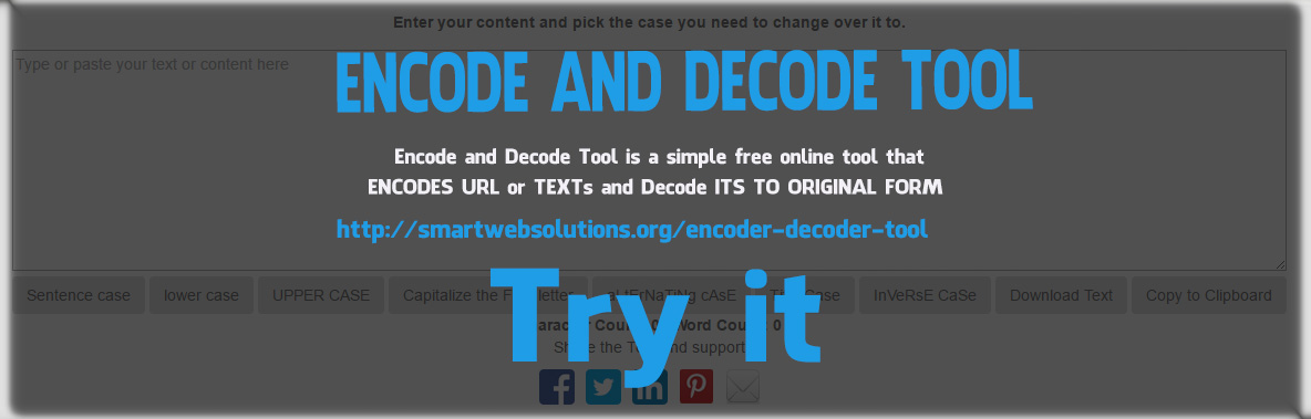 Online URL Encode and Decode Tool - smartwebsolutions org